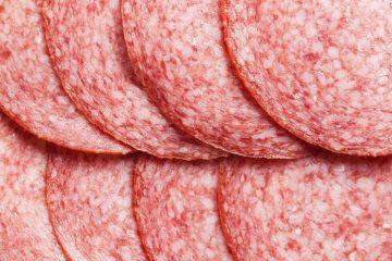 detail of salami